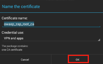 Saving the certificate to an Android 4.3 device