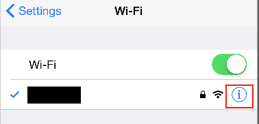 Verifying network name in iOS